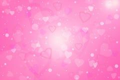 Fondo del día de tarjeta del día de San Valentín con los corazones ilustración del vector