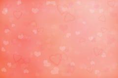 Fondo del día de tarjeta del día de San Valentín con los corazones libre illustration