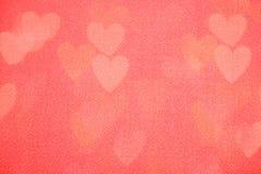 Fondo del día de tarjeta del día de San Valentín con los corazones Imágenes de archivo libres de regalías
