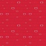 Fondo del día de tarjeta del día de San Valentín con los corazones Foto de archivo