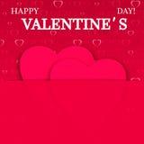 Fondo del día de tarjeta del día de San Valentín con los corazones Imagen de archivo libre de regalías