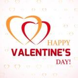 Fondo del día de tarjeta del día de San Valentín con los corazones Fotos de archivo libres de regalías
