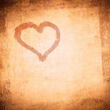 Fondo del día de tarjeta del día de San Valentín de Grunge Imagen de archivo libre de regalías