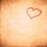 Fondo del día de tarjeta del día de San Valentín de Grunge Foto de archivo libre de regalías