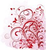Fondo del día de tarjeta del día de San Valentín de Grunge Imágenes de archivo libres de regalías