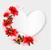 Fondo del día de tarjeta del día de San Valentín Fondo en forma de corazón Foto de archivo