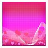 Fondo del día de tarjeta del día de San Valentín - ilustración Foto de archivo libre de regalías