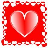 Fondo del día de tarjeta del día de San Valentín Ilustración Imágenes de archivo libres de regalías