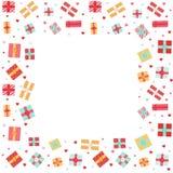 Fondo del día de tarjeta del día de San Valentín con las cajas de regalo para el diseño web, bandera, cartel, diseño de tarjeta
