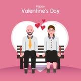 Fondo del día de tarjeta del día de San Valentín, pares en amor imagen de archivo
