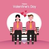 Fondo del día de tarjeta del día de San Valentín, pares en amor imagenes de archivo