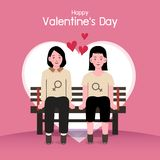 Fondo del día de tarjeta del día de San Valentín, pares en el amor feliz foto de archivo libre de regalías