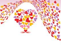 Fondo del día de tarjetas del día de San Valentín Imágenes de archivo libres de regalías