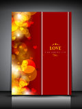 Fondo del día de tarjetas del día de San Valentín. Fotos de archivo libres de regalías