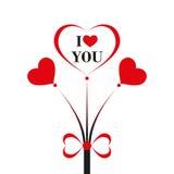 Fondo del día de tarjetas del día de San Valentín Fotografía de archivo
