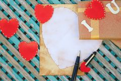 Fondo del día de tarjetas del día de San Valentín Fotos de archivo libres de regalías
