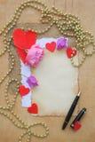Fondo del día de tarjetas del día de San Valentín Imagen de archivo