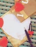 Fondo del día de tarjetas del día de San Valentín Imagenes de archivo