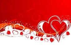 Fondo del día de tarjetas del día de San Valentín Fotos de archivo