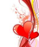 Fondo del día de tarjetas del día de San Valentín con Fotografía de archivo libre de regalías