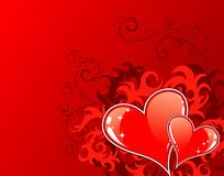 Fondo del día de tarjetas del día de San Valentín con Foto de archivo libre de regalías