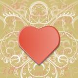 Fondo del día de tarjetas del día de San Valentín con el corazón libre illustration