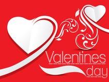 Fondo del día de tarjetas del día de San Valentín con floral Imagenes de archivo