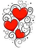 Fondo del día de tarjetas del día de San Valentín con la vid del corazón Fotografía de archivo libre de regalías