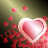 Fondo del día de tarjetas del día de San Valentín con los corazones stock de ilustración