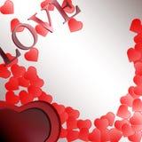 Fondo del día de tarjetas del día de San Valentín con los corazones ilustración del vector