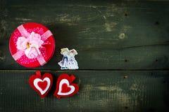 Fondo del día de tarjetas del día de San Valentín con los corazones Foto de archivo libre de regalías