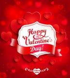Fondo del día de tarjetas del día de San Valentín con los corazones libre illustration