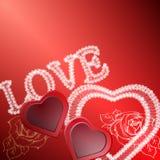 Fondo del día de tarjetas del día de San Valentín con los cordones y los corazones ilustración del vector