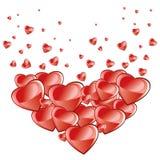 Fondo del día de tarjetas del día de San Valentín, corazones que caen libre illustration