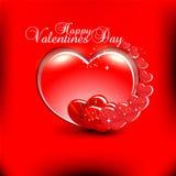 Fondo del día de tarjetas del día de San Valentín Imagen de archivo libre de regalías