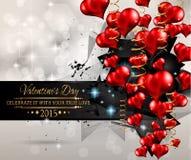 Fondo del día de tarjetas del día de San Valentín de San para las invitaciones de la cena Foto de archivo