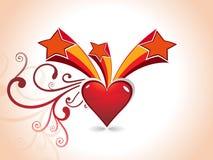 Fondo del día de tarjetas del día de San Valentín del corazón Imágenes de archivo libres de regalías