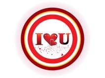 Fondo del día de tarjetas del día de San Valentín del corazón Imagen de archivo libre de regalías