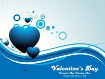 Fondo del día de tarjetas del día de San Valentín del corazón Fotografía de archivo libre de regalías