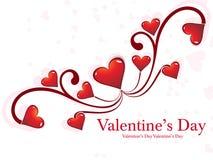 Fondo del día de tarjetas del día de San Valentín del corazón Fotos de archivo libres de regalías