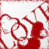 Fondo del día de tarjetas del día de San Valentín del Grunge con los corazones. libre illustration