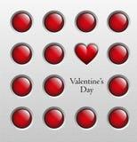 Fondo del día de tarjetas del día de San Valentín, ejemplo del vector Foto de archivo libre de regalías
