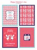 Fondo del día de tarjetas del día de San Valentín para la tarjeta de la invitación Fotografía de archivo libre de regalías