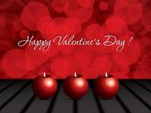 Fondo del día de tarjetas del día de San Valentín Foto de archivo