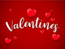 Fondo del día de tarjetas del día de San Valentín con la tarjeta del día de San Valentín de los globos; amor; golde libre illustration
