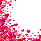 Fondo del día de tarjetas del día de San Valentín con los corazones dispersados del triángulo libre illustration