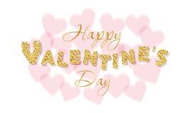 Fondo del día de tarjetas del día de San Valentín con los corazones transparentes Imagen de archivo