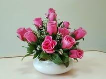 Fondo del día de tarjetas del día de San Valentín, Rose, día de tarjetas del día de San Valentín romántico Foto de archivo libre de regalías