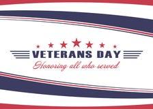 Fondo del día de veteranos Plantilla para el diseño del día de veteranos de los E.E.U.U. Honrando a todos que sirvieron Vector libre illustration
