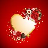 Fondo del día del `s de la tarjeta del día de San Valentín Imágenes de archivo libres de regalías